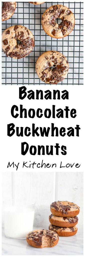 Banana Chocolate Buckwheat Donuts | My Kitchen Love (.com)