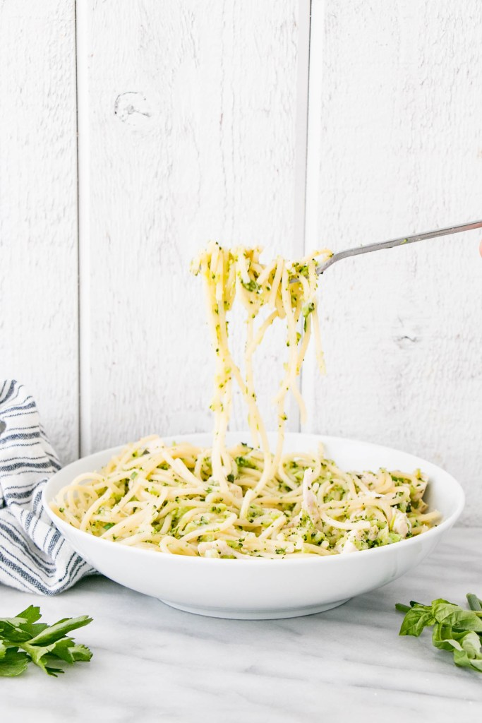 One Pot Herb and Garlic Chicken Pasta