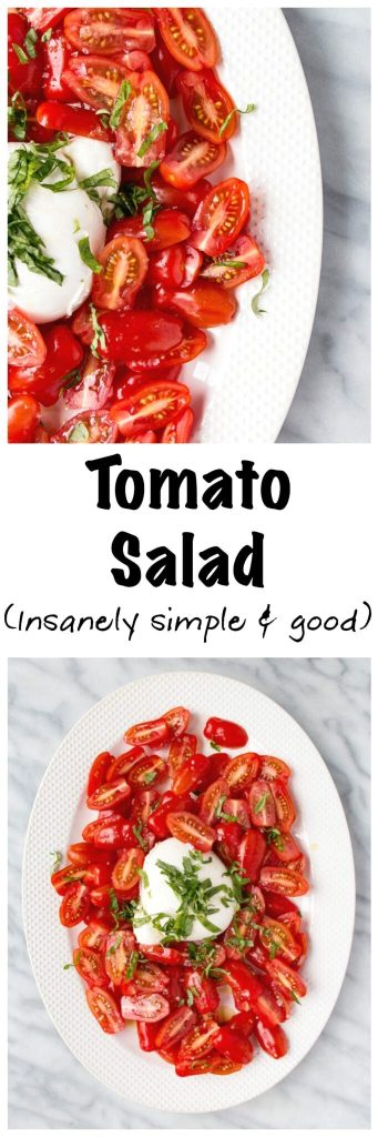 Tastiest Simple Tomato Salad | My Kitchen Love. Live simply and deliciously all summer long with this crazy good tomato salad.