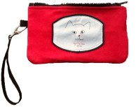 iPhone purse wristlet in red ultrasuede