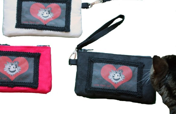 love your cat iphone wristlet