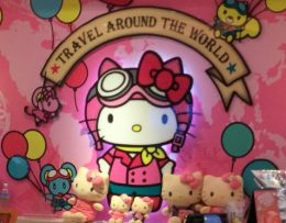 Hello Kitty Travell sign Hello Kitty originated