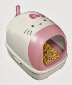 Hello kitty litter box & tail
