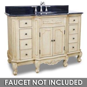 Large Bathroom Vanities 50 1 4 Bathroom Vanity In Buttercream With Black Granite Top And Bowl Elements Hardware Van061 48 T