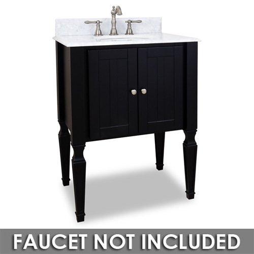Small Bathroom Vanities 28 Bathroom Vanity In Black With White Marble Top And Bowl Elements Hardware Van049 T Mw
