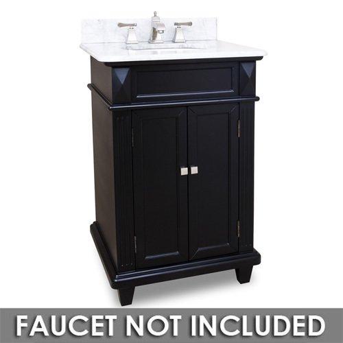 Small Bathroom Vanities 24 Bathroom Vanity In Black With White Marble Top And Bowl Elements Hardware Van057 T Mw