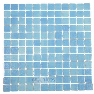 nieblas recycled glass tile mesh backed sheet in fog turquoise blue vidrepur