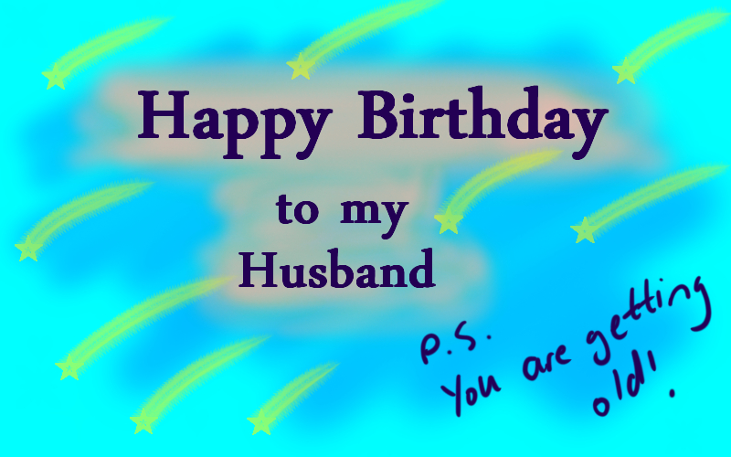 Thanks To My Wonderful Husband