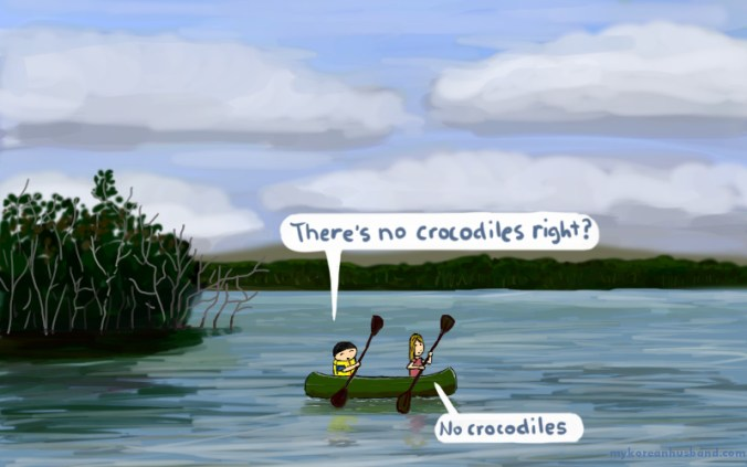 no crocodiles
