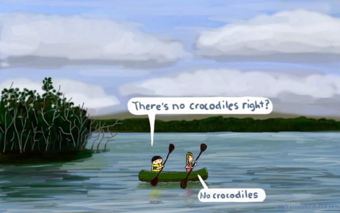 no crocodiles