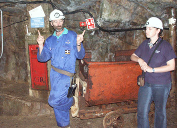Poldark Mine Robert does the Boogie-woogie