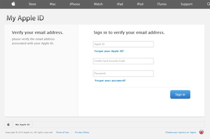 Apple Spam email