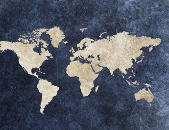 world map global warming