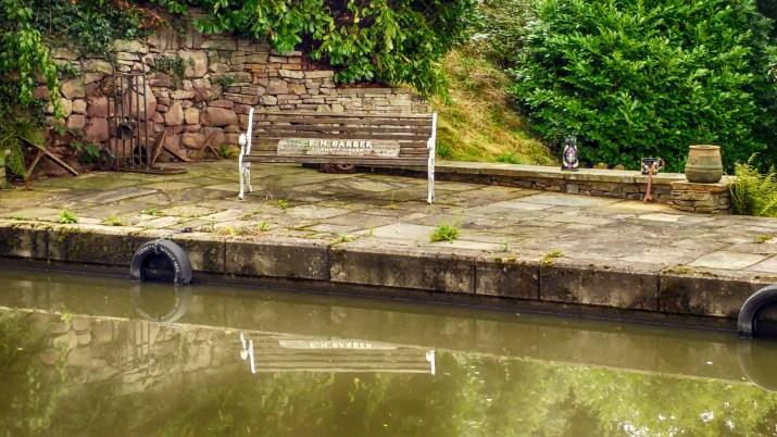 Bench near Macclesfield Garden Centre moorings
