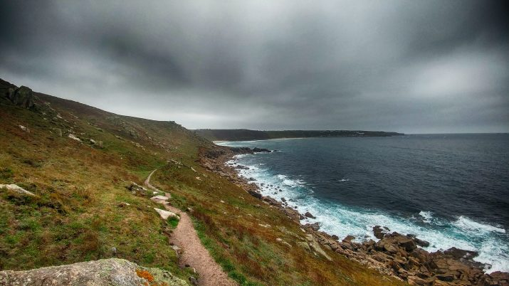 Looking back to gwynver Beach and Sennen