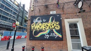 Gay Village Sign, Manchesters Gay Village