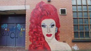 Divina Decampo mural, Manchesters Gay Village