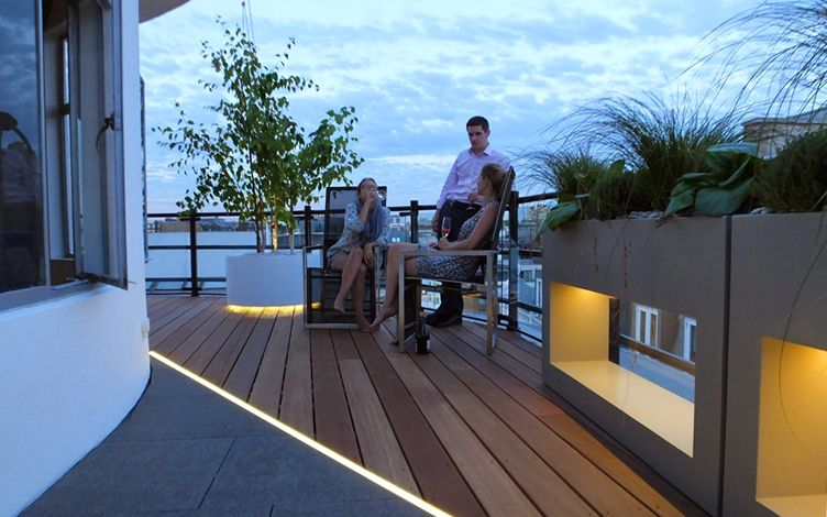 Roof terrace design London  Mylandscapes contemporary rooftops