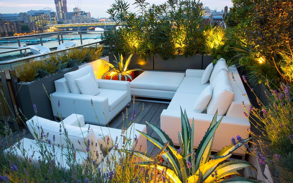 Rooftop Terrace Thames Mylandscapes Minimalist Garden Designs