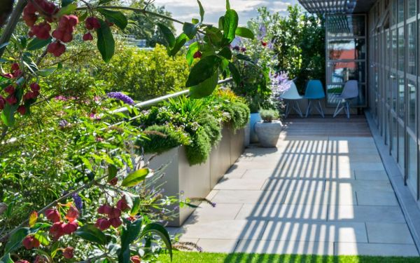 sustainable roof terrace design