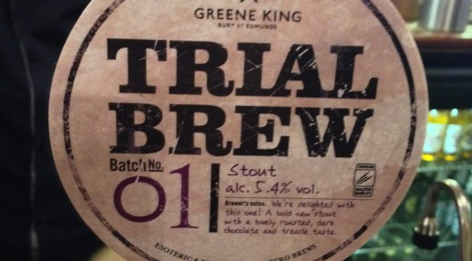 Trial Brew Batch no. 01 - Greene King Brewery