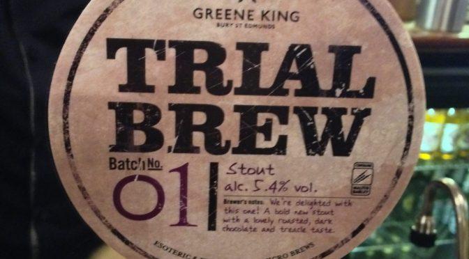 Trial Brew Batch no. 01 – Greene King Brewery