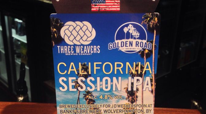 California Session IPA – Three Weave / Golden Road (Banks's) Brewery