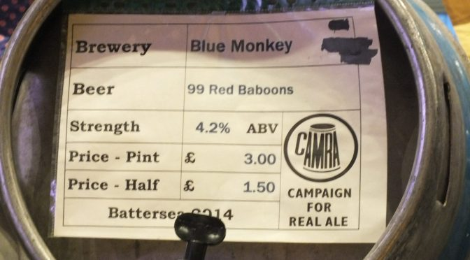 99 Red Baboons - Blue Monkey Brewery