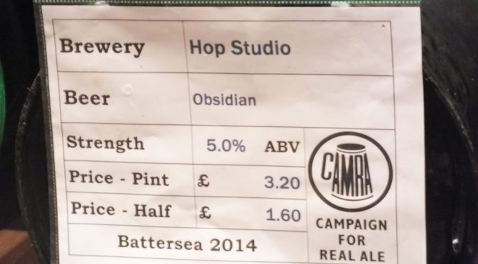 Obsidian - Hop Studio Brewery