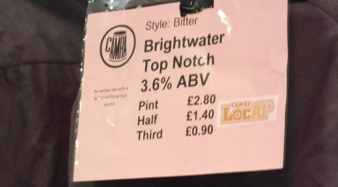 Top Notch – Brightwater Brewery