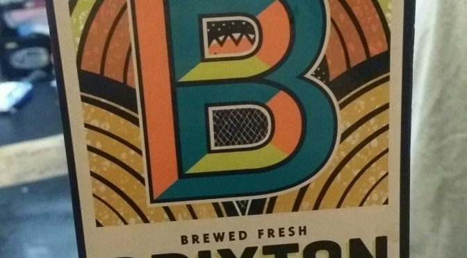 Reliance Pale Ale – Brixton Brewery