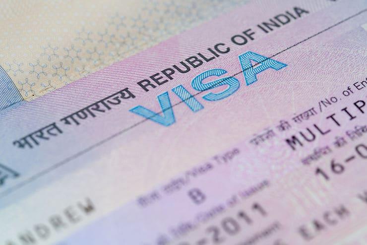 visa pour l'Inde - photo du visa indien