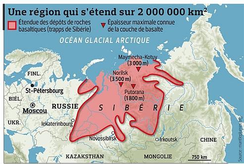 sentier motoneige - carte du monde Sibérie