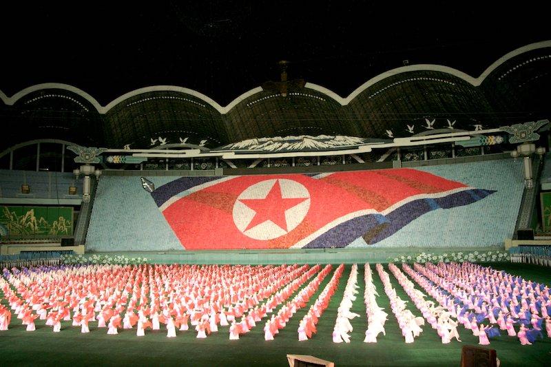 stade de football gigantesque - le stade de la Corée du nord