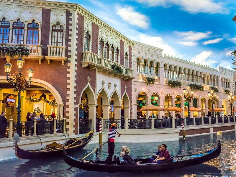 Las Vegas gondole comme Venise