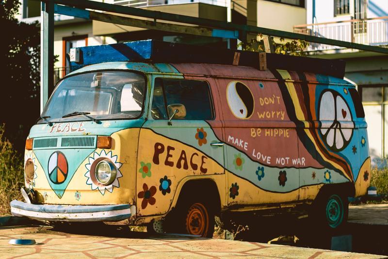van peinture van hippie