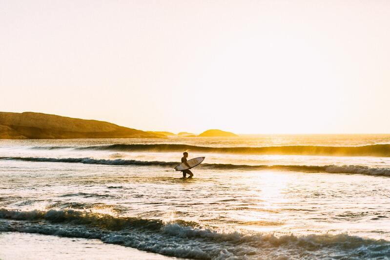 surf soleil vague