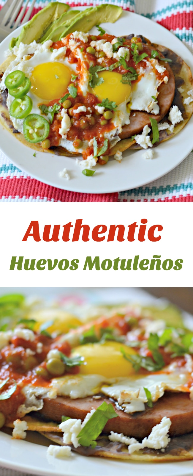 Huevos Motulenos is a traditional Mexican breakfast originating from Motul, Yucatan. It combines fried tortillas with beans, eggs, ham, and salsa roja for a hearty, delicious breakfast. AD