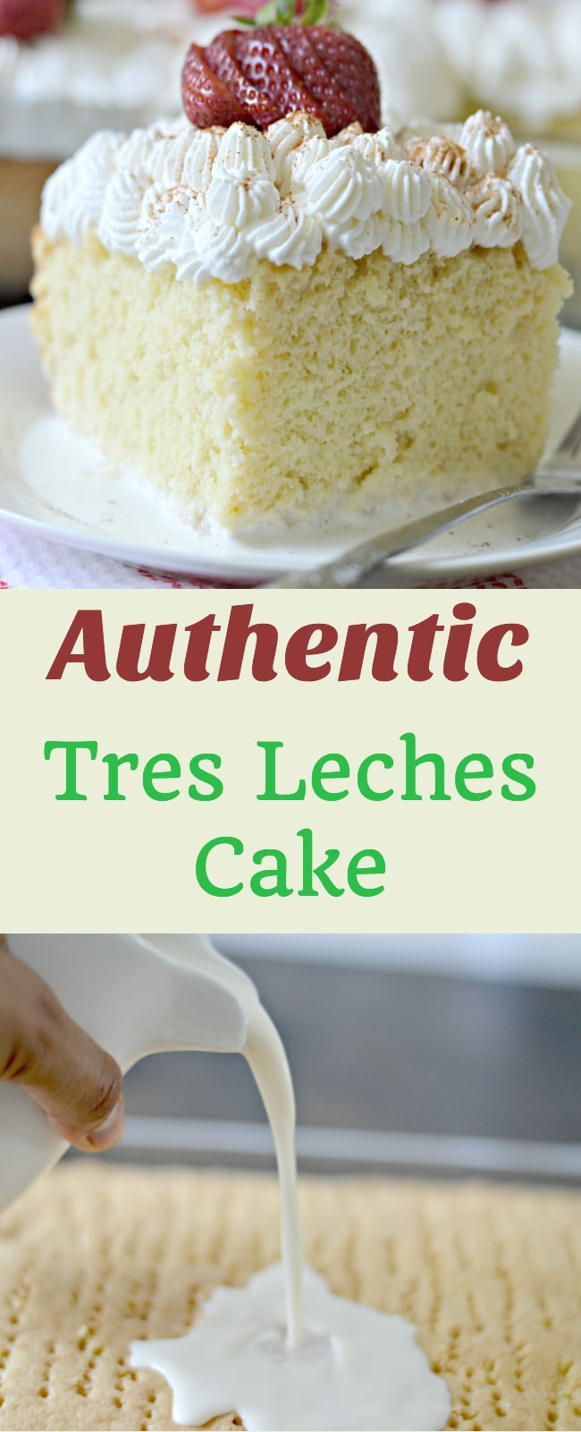 Tres Leches cake is an authentic Mexican dessert that is full of delicious flavor and perfect for any party or other gatherings.