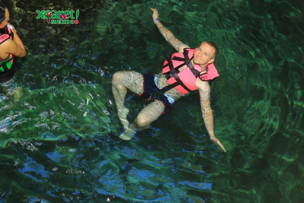 Xcaret underground rivers daniel
