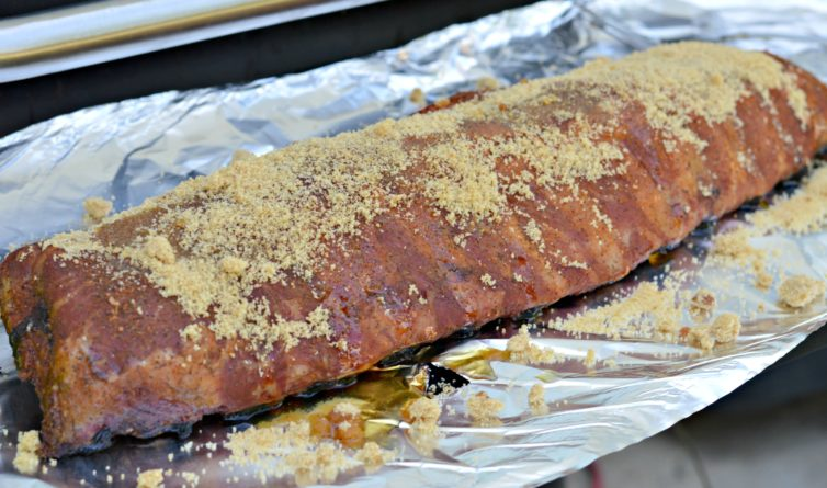 Ribs with brown sugar, maple and apple juice
