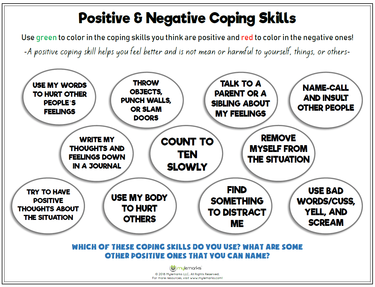 Worksheet Coping Mood Swing