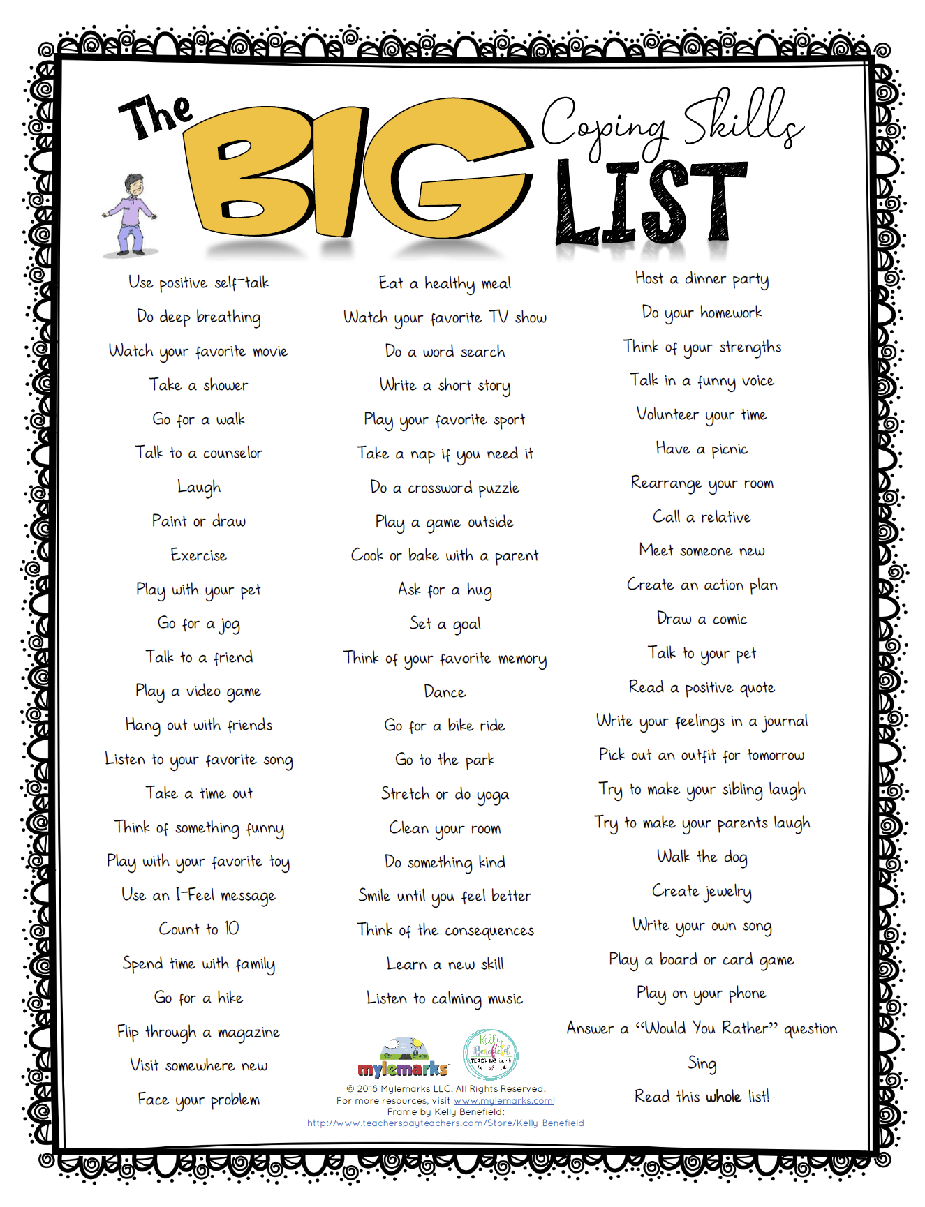 The Big Coping Skills List Es
