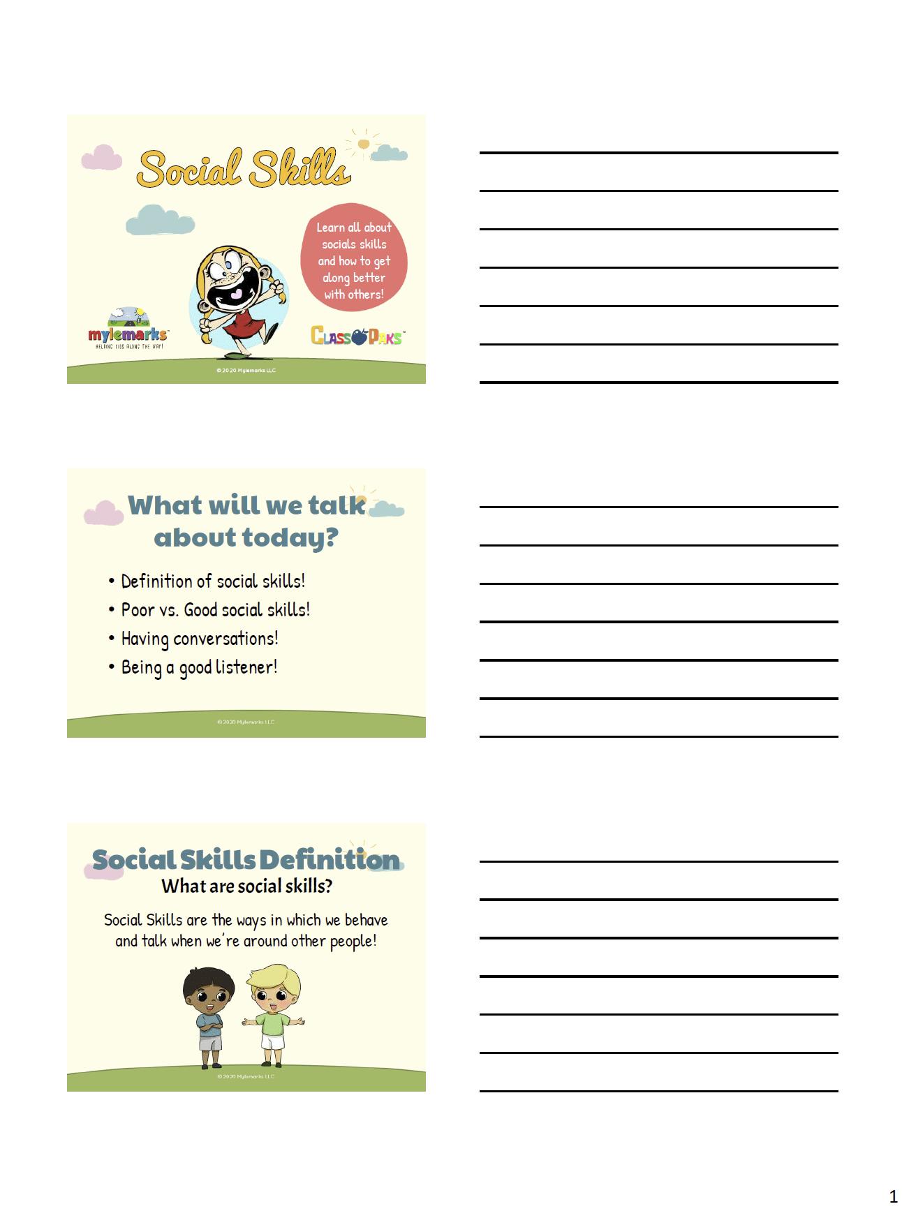 Social Skills Classpak