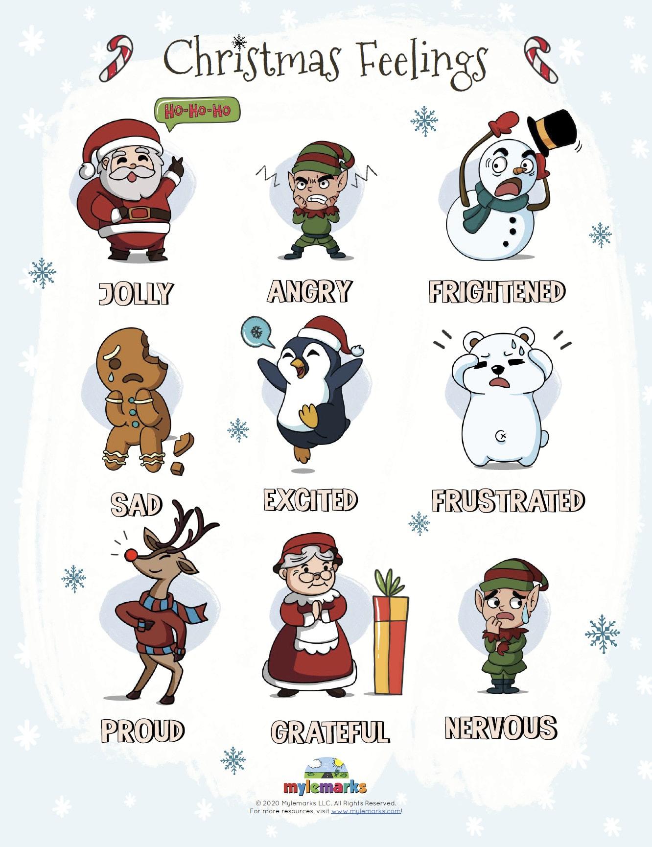 Christmas Feelings Chart