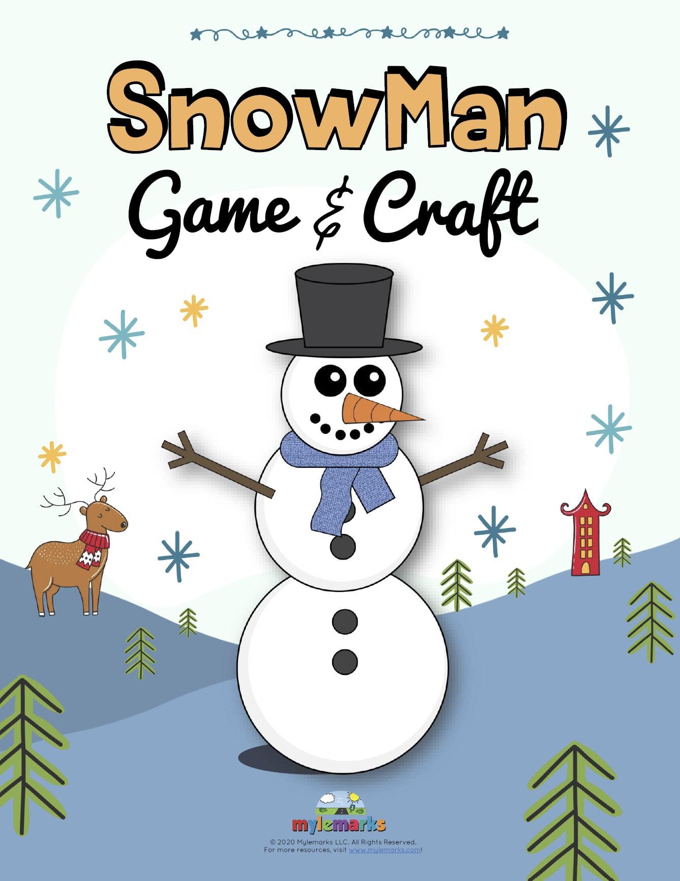 Snow Man Game Amp Craft