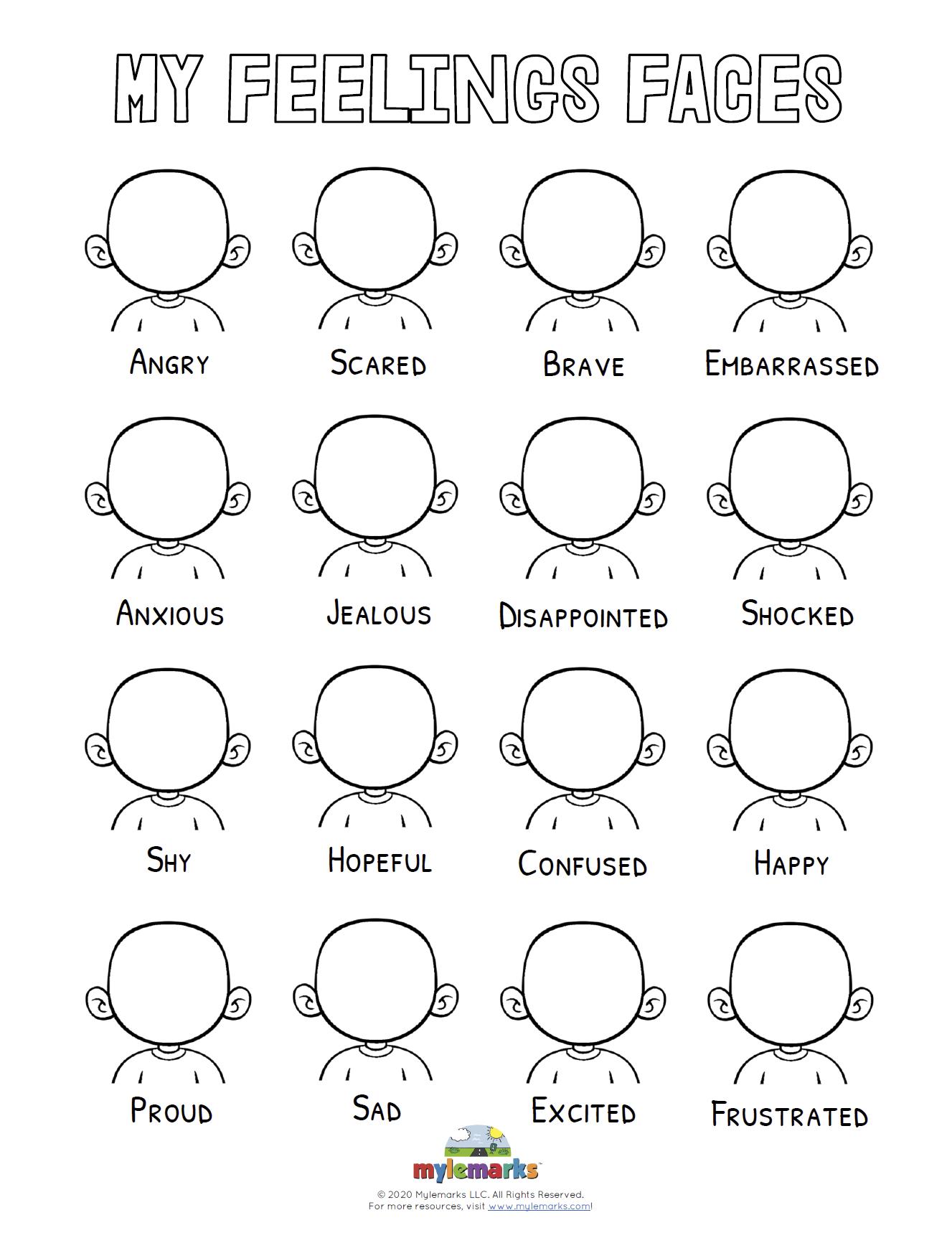 Blank Feelings Faces