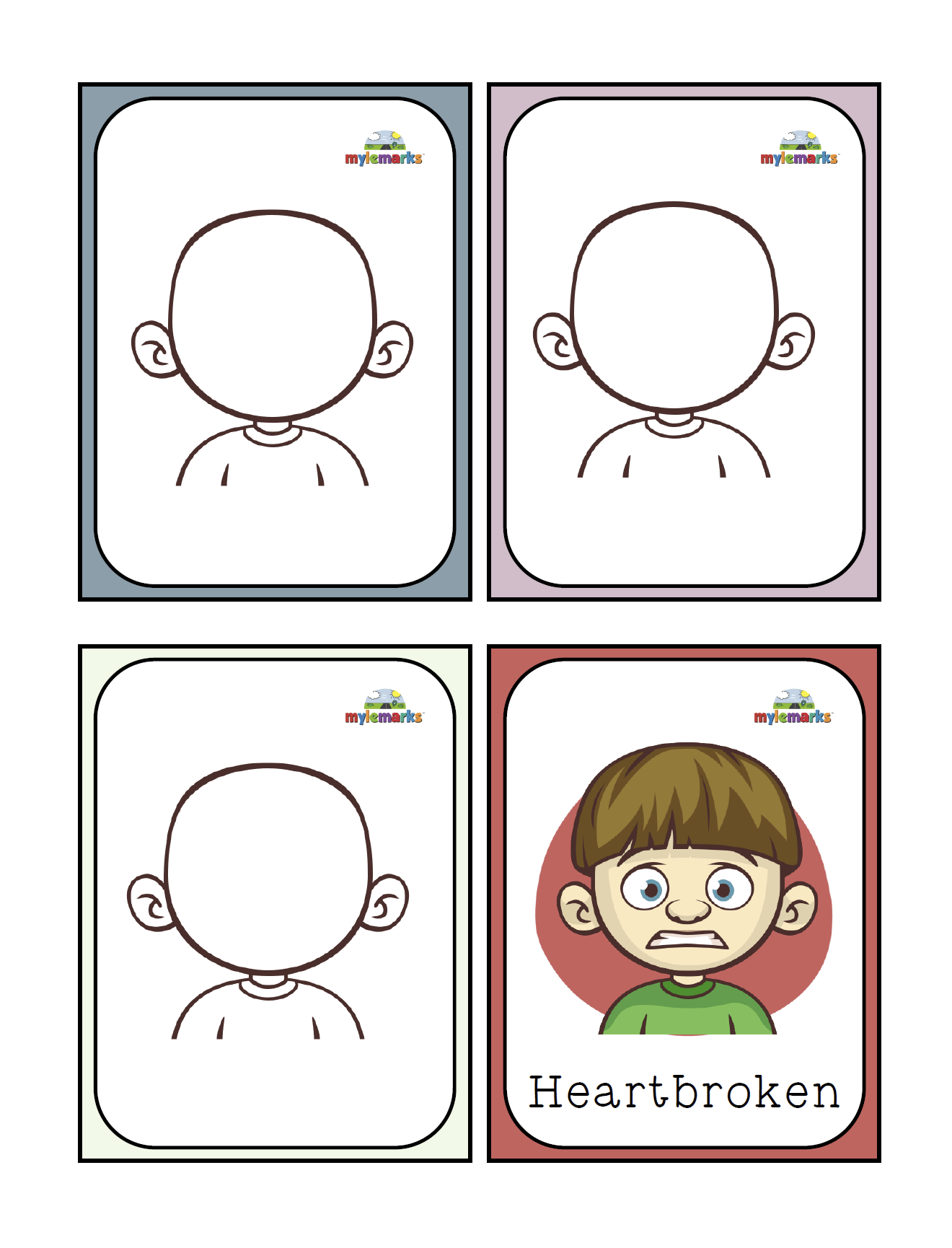 Feelings Flash Cards Poster