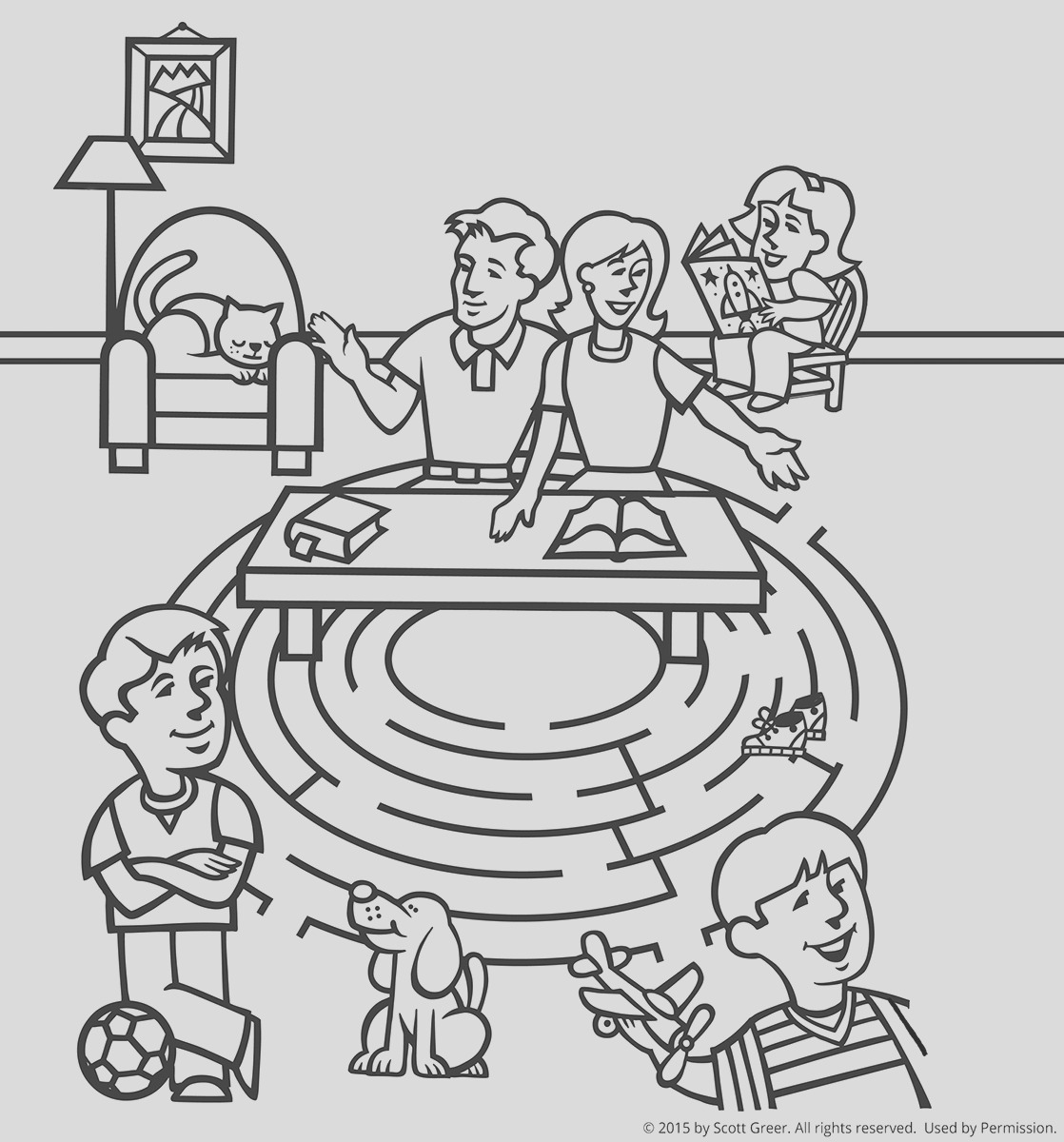 30 Beautiful Photos Of Family Praying Coloring Page