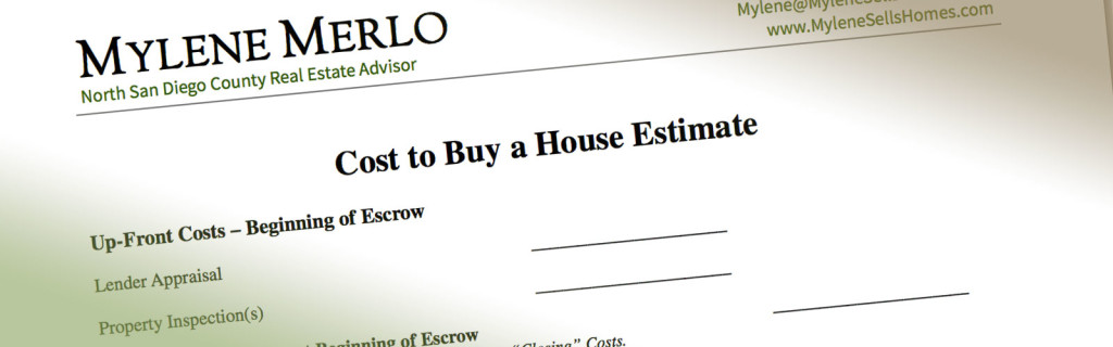 Cost to Buy a House Worksheet Download Form